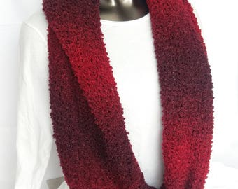 Red Ombre Infinity Scarf