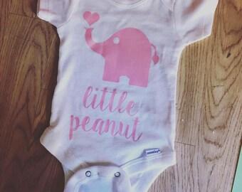 Little Peanut Bodysuit Pink Short Sleeve
