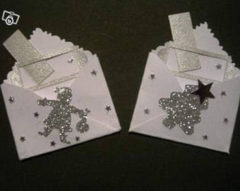 set of 20 mini envelopes mark up Christmas theme