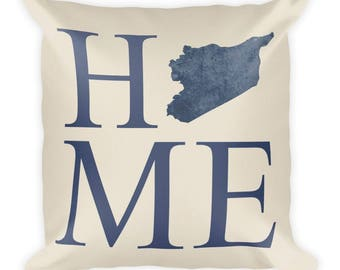 Syria Pillow, Syria Gifts, Syrian Decor, Syria Home, Syria Throw Pillow, Syria Art, Syria Map, Syria Cushion, Syrian Art, Syria Love