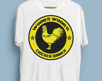 Winner Winner Chicken Dinner PUBG Player Unknown Battlegrounds Funny T Shirt