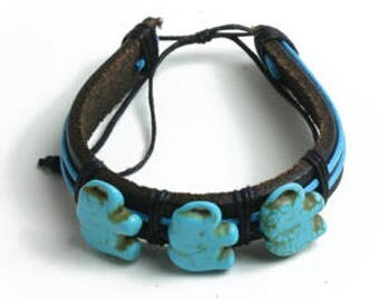Turquoise Elephant Bracelets (Set of Twelve)