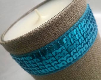 LIMONCELLO candle scent weight extracts net 170g linen and blue sequin dress