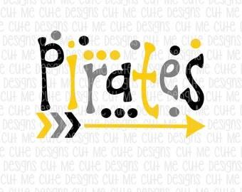 SVG DXF PNG cut file cricut silhouette cameo scrap booking Pirates Polka Dots Arrows