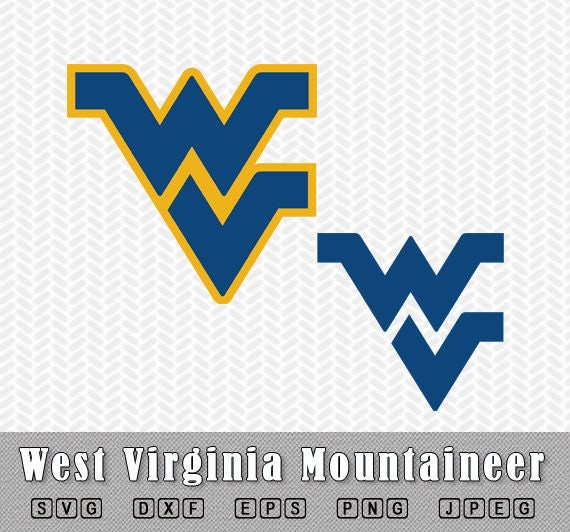 west virginia mountaineer layered svg dxf logo vector file