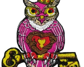 Bird patch iron on applique embroidery owl patches for clothes sew on birds owls  appliques