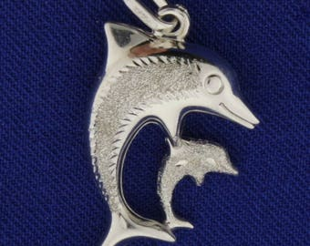 Mother and Child Dolphin Pendant