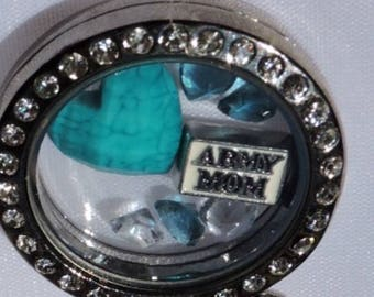 Charm locket necklace, women's jewelry, gifts for her, Floating locket necklace, fashion jewelry, locket necklace, birthday mom