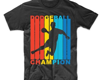 Retro 1970's Style Dodgeball Champion T-Shirt