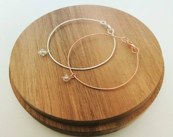 Stardust Bangle with Swarovski Crystal Charm