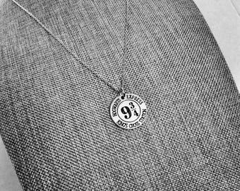 Harry Potter Jewelry Harry Potter Gift Platform 9 3/4 Necklace Platform 9 3 4 Potterhead Potter Jewelry Harry Potter School