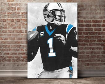 Cam Newton Canvas Print - Carolina Panthers Art - Carolina Panthers Wall Art - Cam Newton - Cam Newton Poster - Carolina Panthers Poster