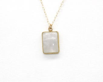 Gold plated Moonstone necklace / moonstone necklace