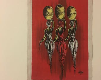 Three African Women Painting
