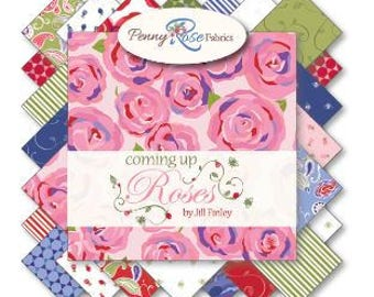 """Coming Up Roses Fabric Stackers - 5"""" square stackers, 42 piece assortment"""