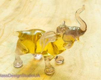 Glass Figurine glass elephant glass animals elephant Glass figurines murano glass art blown Miniature lampwork Collectible Home decor Gifts