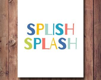 65% OFF Splish Splash Print, Bathroom Decor, Bathroom Print, Printable Bathroom Rules Art, Nursery Bathroom Decor, Printable Kids Gift