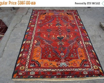 SALE 45% OFF Handmade Persian rug / 130 x 201 cm