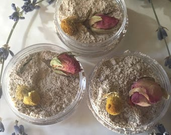 Floral Face Clay Mask