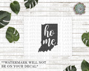 Indiana Home Decal, Indiana State Decal, Indiana Decals, State Decal, Car Decal, Home State Decal, Indiana Home, Indiana Decals, Vinyl Decal
