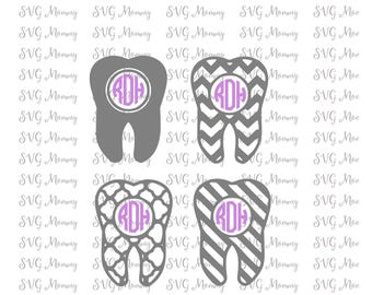 Tooth, Dental, Dentist, Dental Assistant, Monogram Frame, Cut File/DXF Cut Files, SVG Cut File, Cricut File, Silhouette SVG