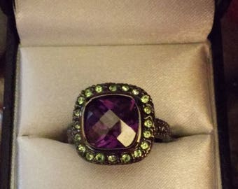 Amethyst & Peridot Fashion Ring