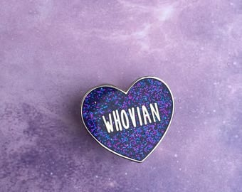 Whovian Heart Pin, Doctor Who Pin