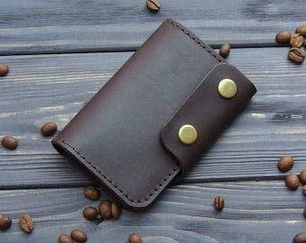 Personalized Leather Key Wallet  Key Holder Card Wallet Leather Key Cover Personalized gift Card holder Card wallet groomsmen gift