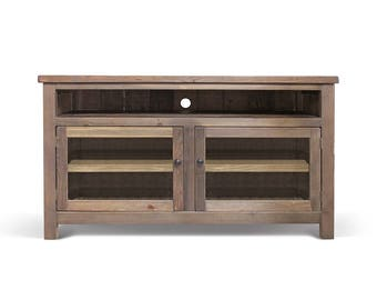 TV Stand, Farmhouse, Console Cabinet, Reclaimed Wood, Rustic, Handmade
