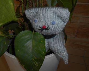 Cat amigurumi plush toy