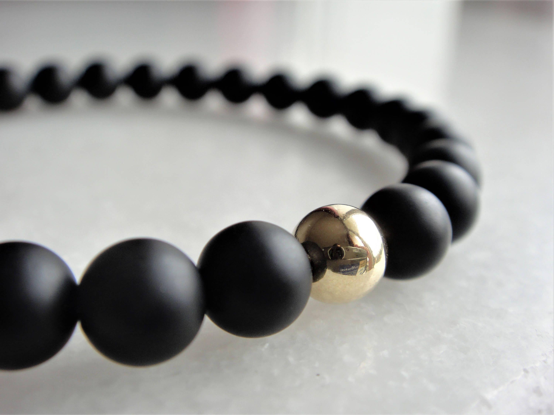 Bracelet en pierre d'onyx