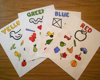Learning Colors Worksheets (set of 4)