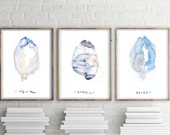 Abstract Watercolor, Set of 3 Prints, Set of 3 Wall Art, Watercolor Print Set, Set of 3 Abstracts, Abstract Gallery Wall, best selling items