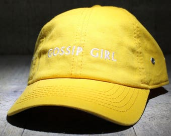 Gossip Girl - choose hat color dad hat with embroidery