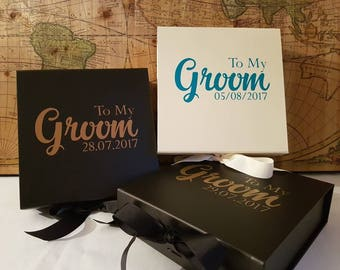 Personalised grooms box, grooms gift, personalised gift, wedding groom, groom present