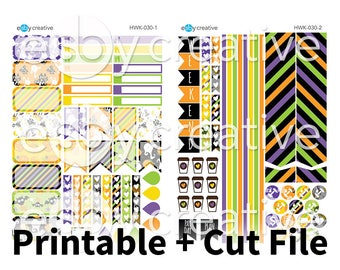 Halloween Mini Kit - Weekly Sticker Kit Printable for Erin Condren Horizontal - HWK-030 - INSTANT DOWNLOAD