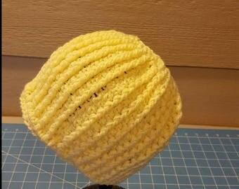Yellow Messy Bun Hat/Ponytail