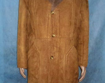 vintage made in france real Sheepskin coat size L very good condition