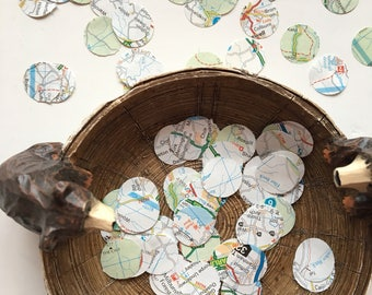UK map circle confetti, Choose from 100, 200 or 500 Pieces