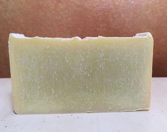 Olive, Coconut Oil and Lemongrass Oatmeal Soap