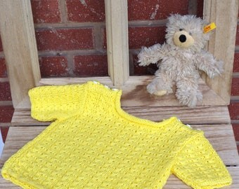 Sweet Sun Yellow merino sweater
