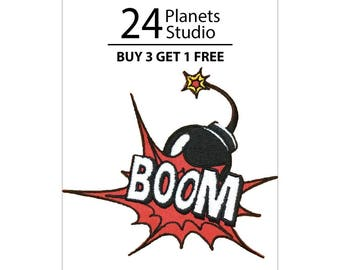 Boom Iron on Patch by 24PlanetsStudio