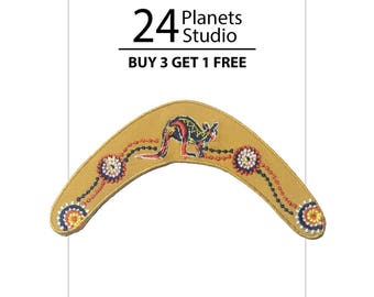 Boomerang Australia Iron on Patch by 24PlanetsStudio