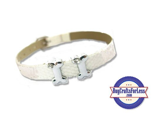 Dog BONE CHARM for 8mm Bracelets, Collars, Napkin Rings, Key Rings +FREE Shipping & Discounts*