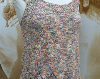 top hand knitted cotton multicolor