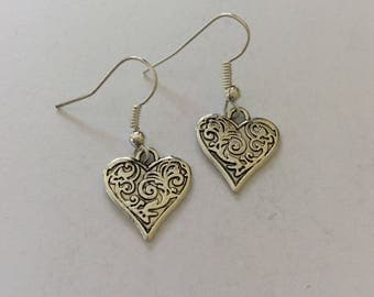 Heart earrings / heart jewellery / heart gift