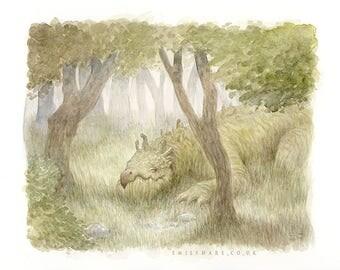 The Tree-Eating Dragon Print
