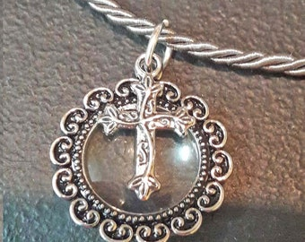 Cross pendant with accent magnifying  glass,pendant,gothic,chic,boho,necklace,fashion,trend,vintage,celtic,hipster,spiritual,crucifix,gift