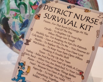 District Nurse Survival Kit - Novelty gift for a friend or loved one