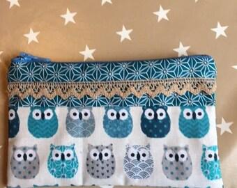 Blue OWL pouch